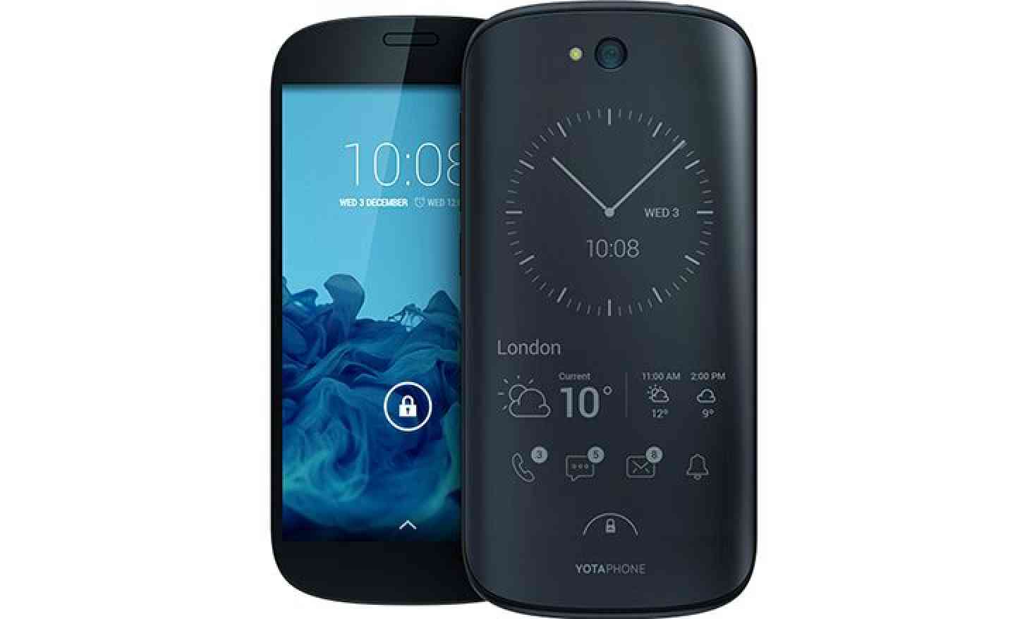 YotaPhone 2 front back screen E Ink