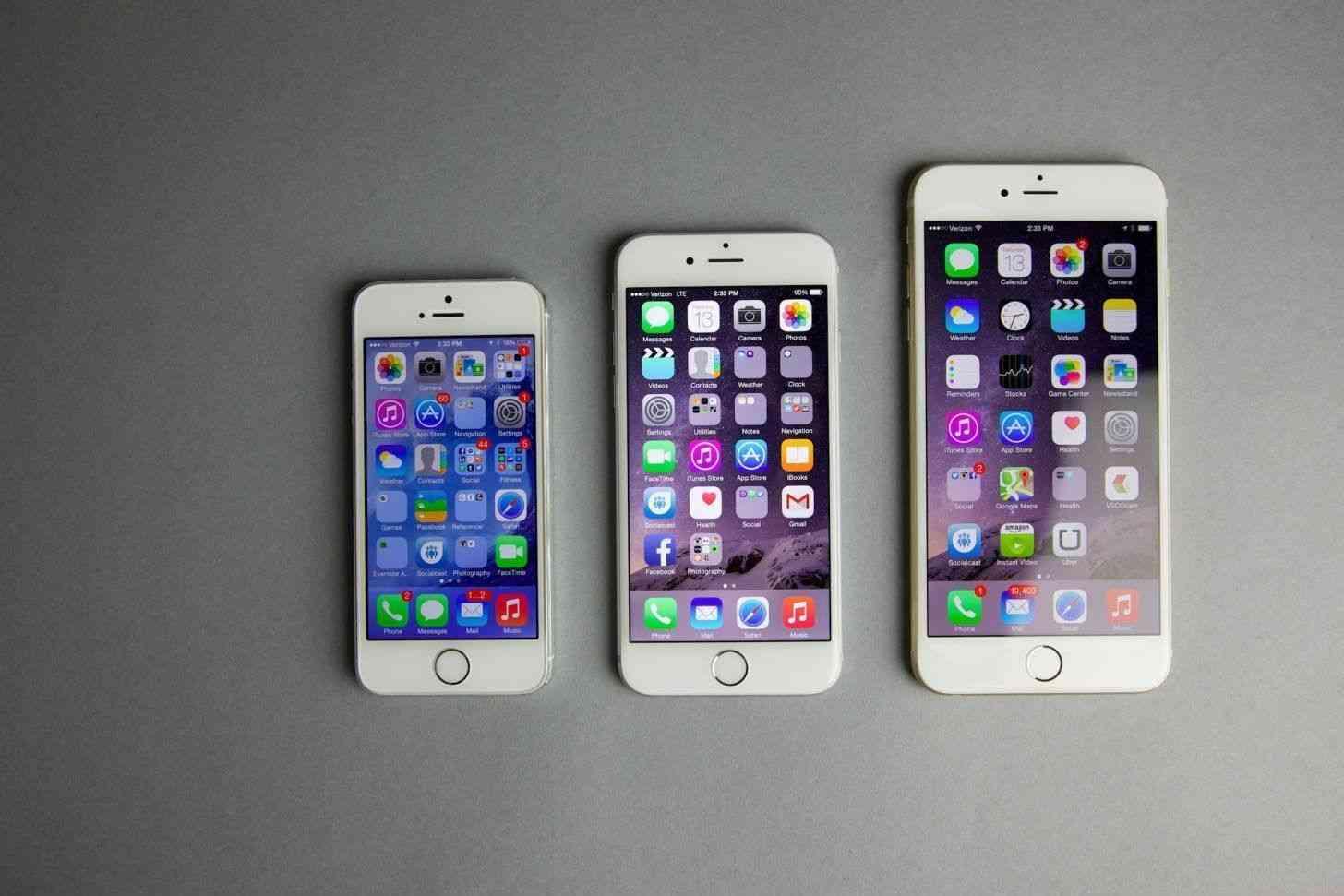 iPhone 5s, iPhone 6, iPhone 6 Plus