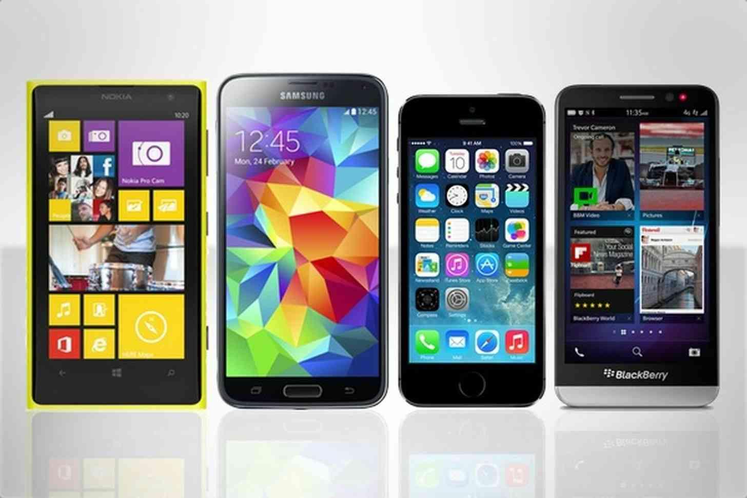 Windows Phone, Android, iOS, BlackBerry
