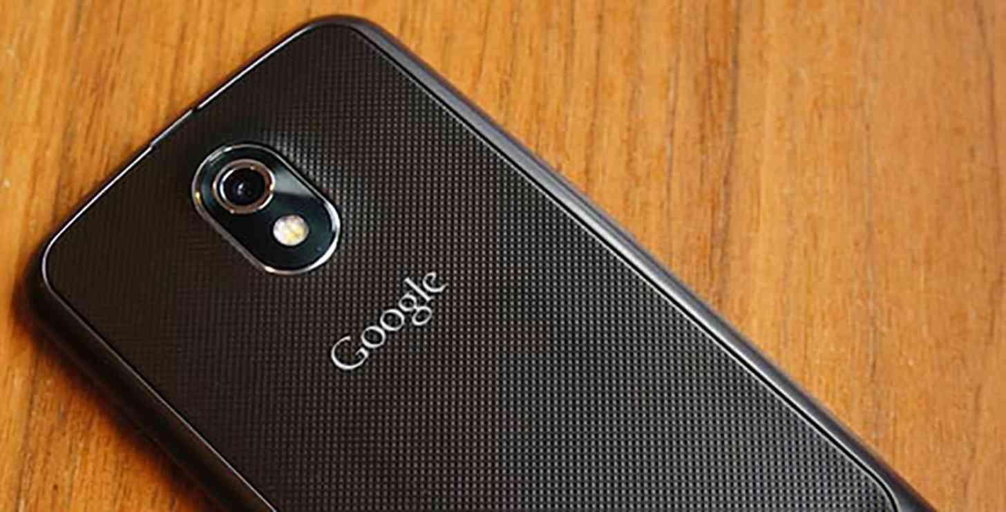 Samsung Galaxy Nexus rear Google logo