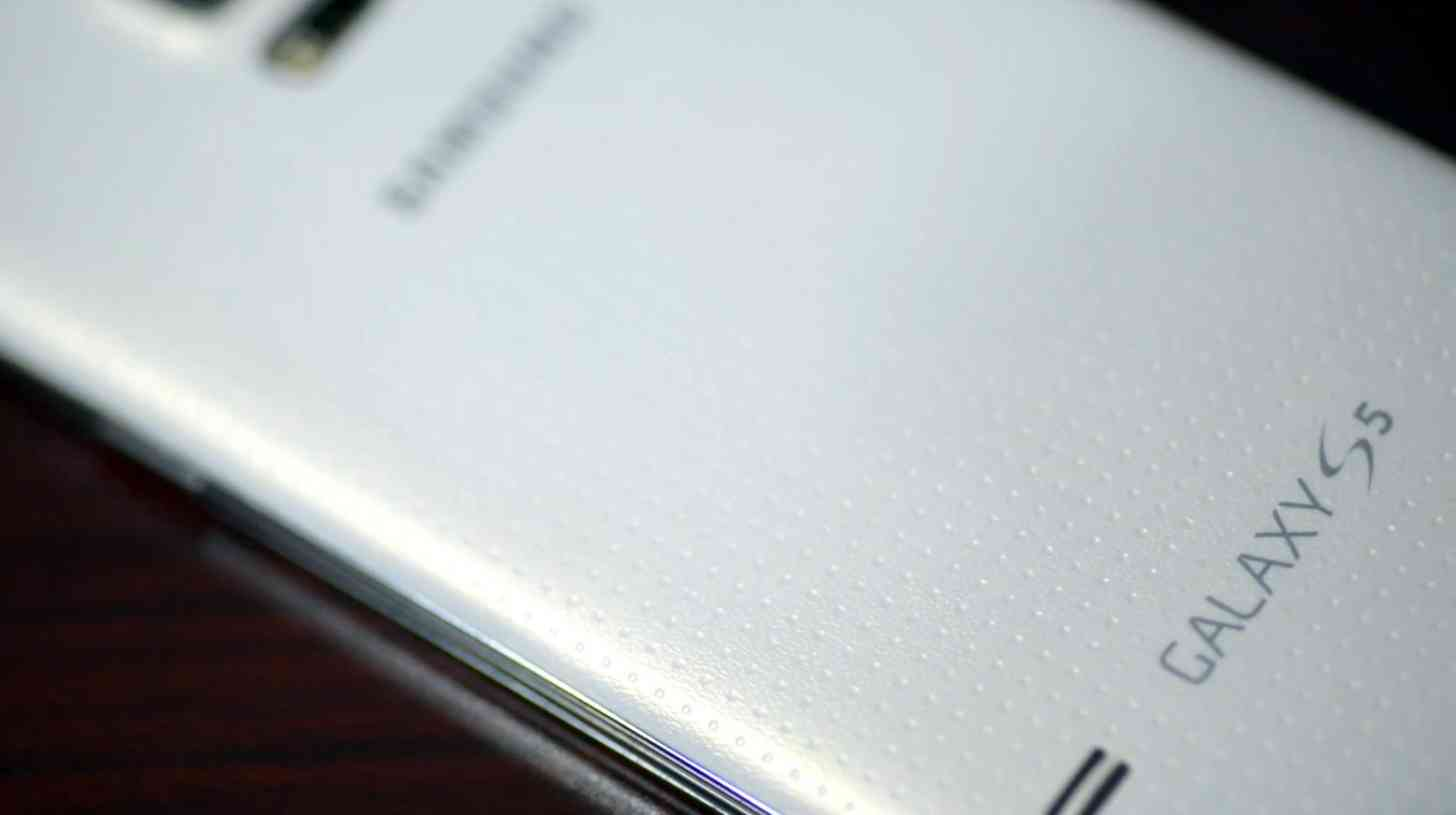 Samsung Galaxy S5 rear white