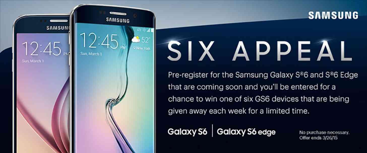 Sprint Galaxy S6, Galaxy S6 Edge promo leak