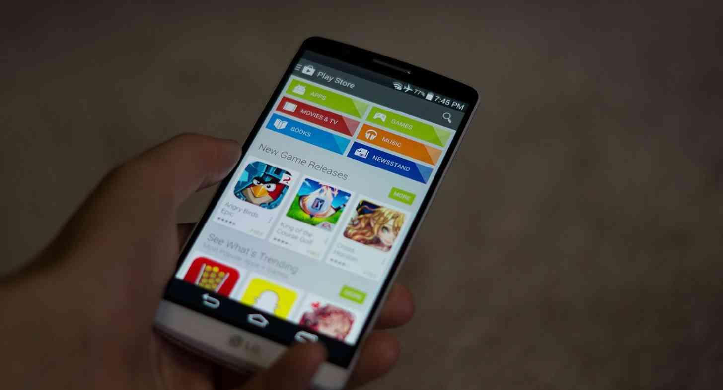 LG G3 Google Play app
