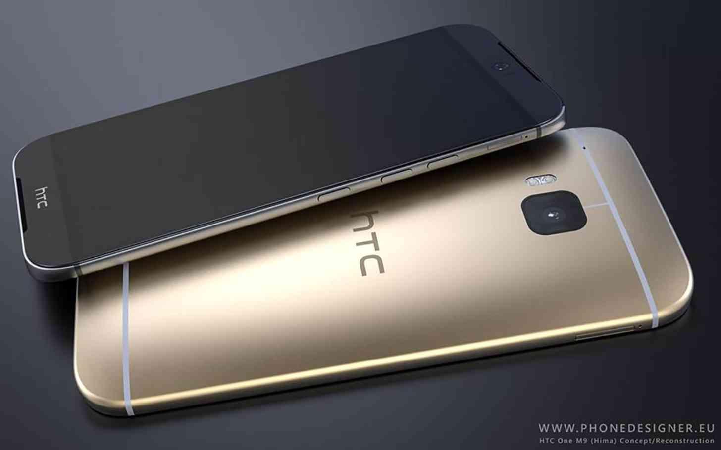 HTC One M9 gold render