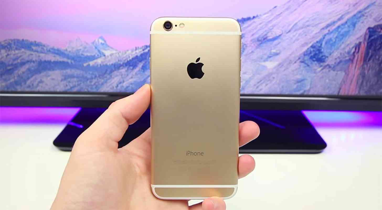 iPhone 6 gold rear
