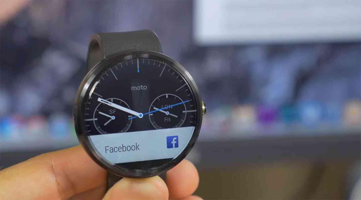 Moto 360 Facebook alert