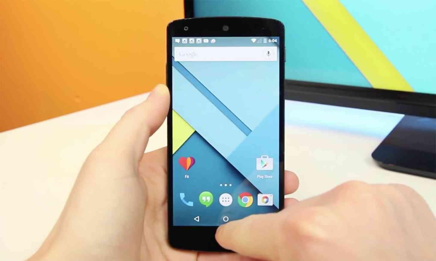 Google Nexus 5 Android 5.0 Lollipop hands on