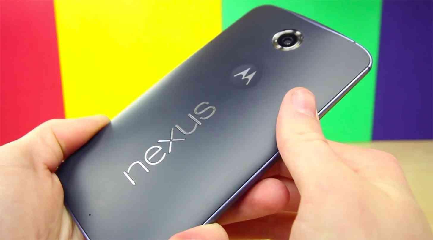 Nexus 6 Midnight Blue rear angle