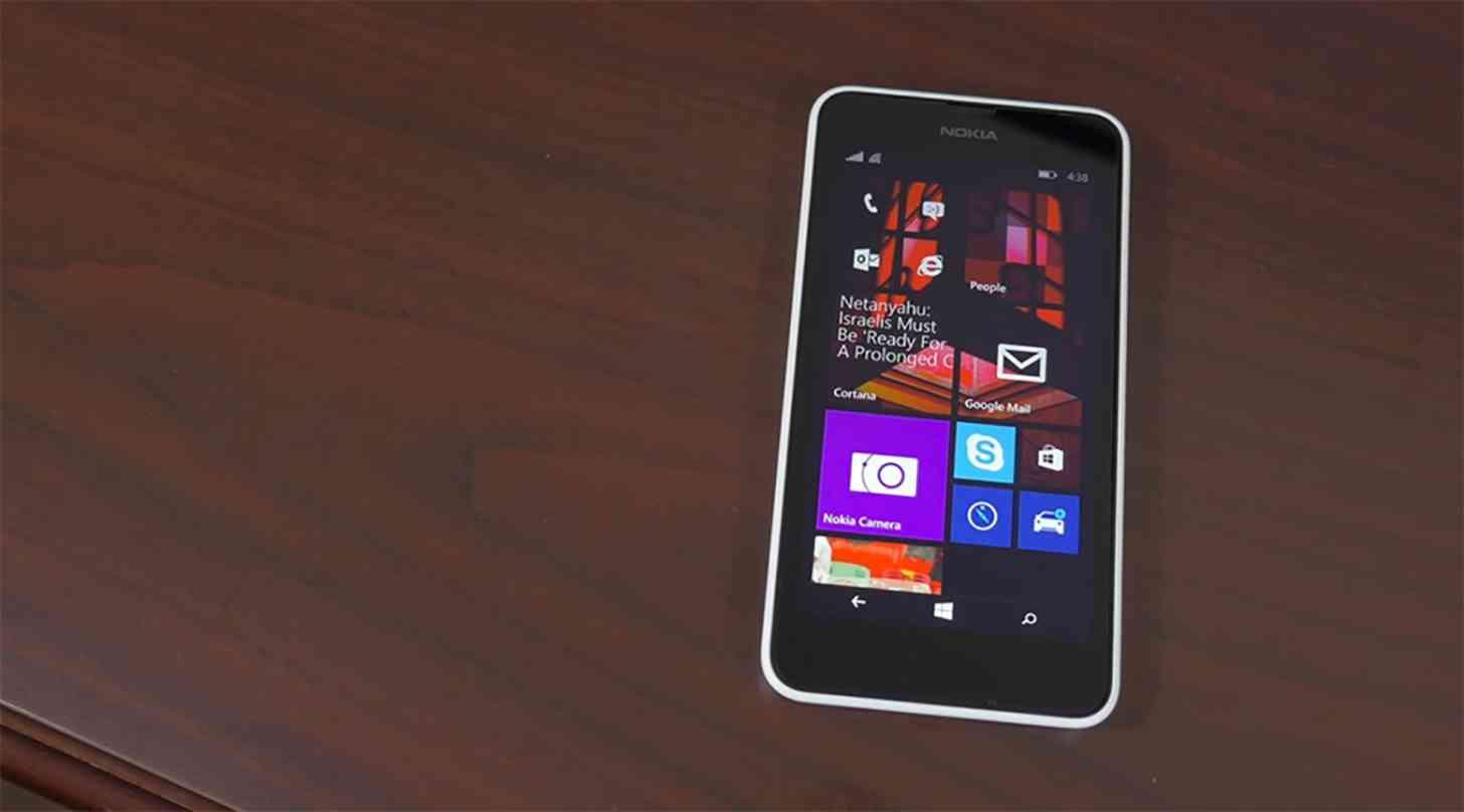 Nokia Lumia 635 white front
