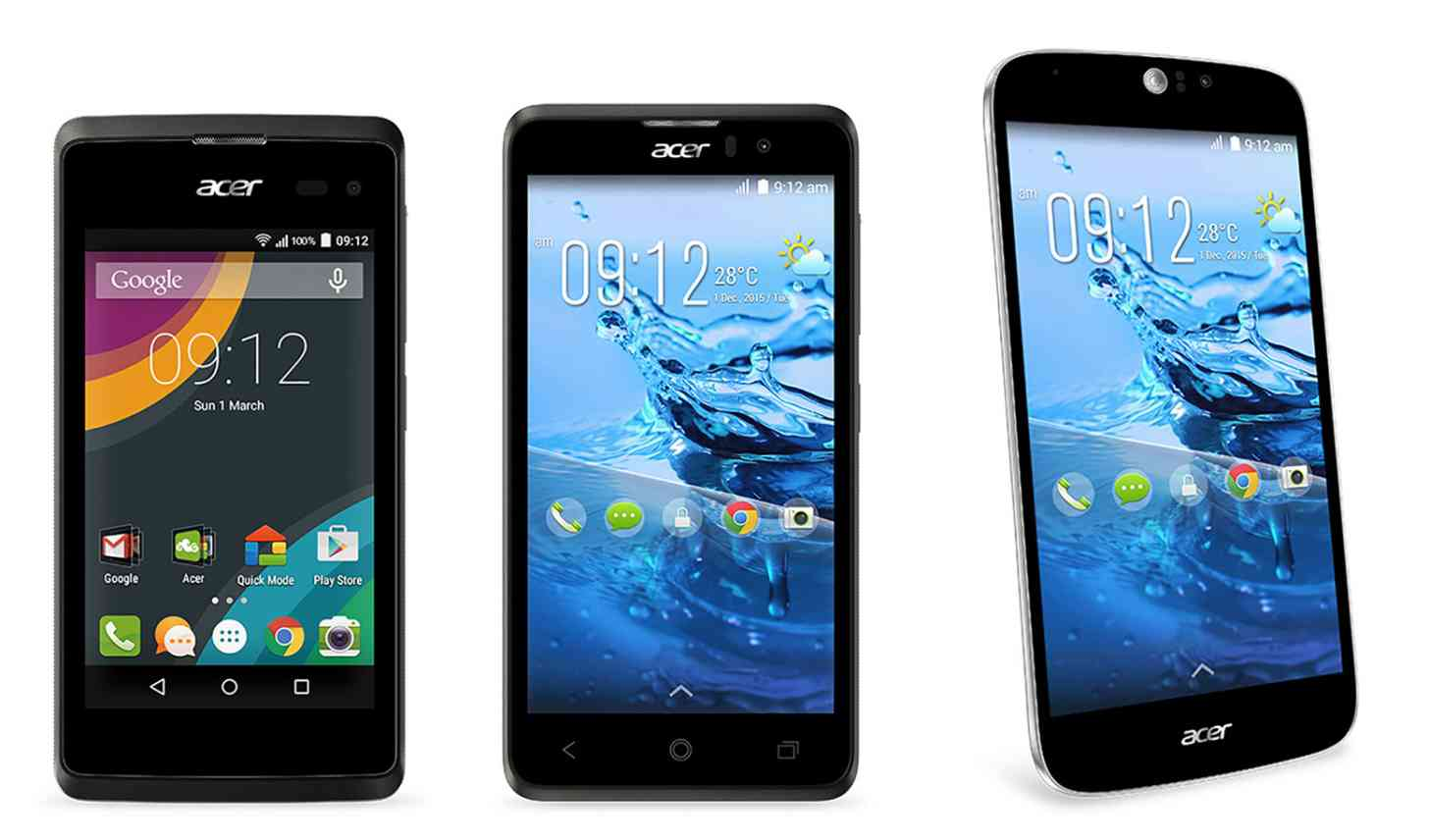 Acer MWC 2015 Android phones