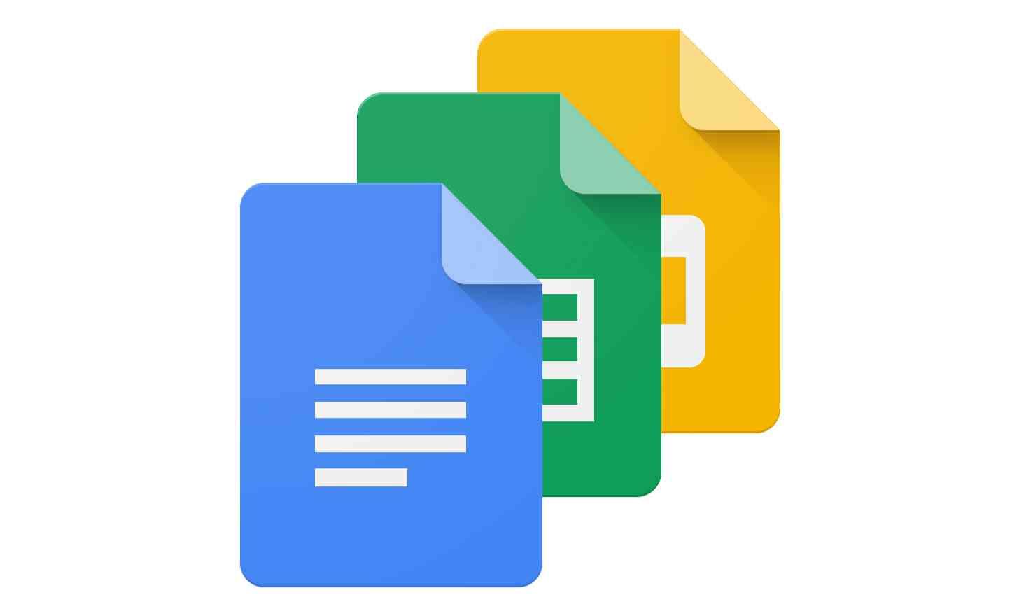 Google Docs app icons