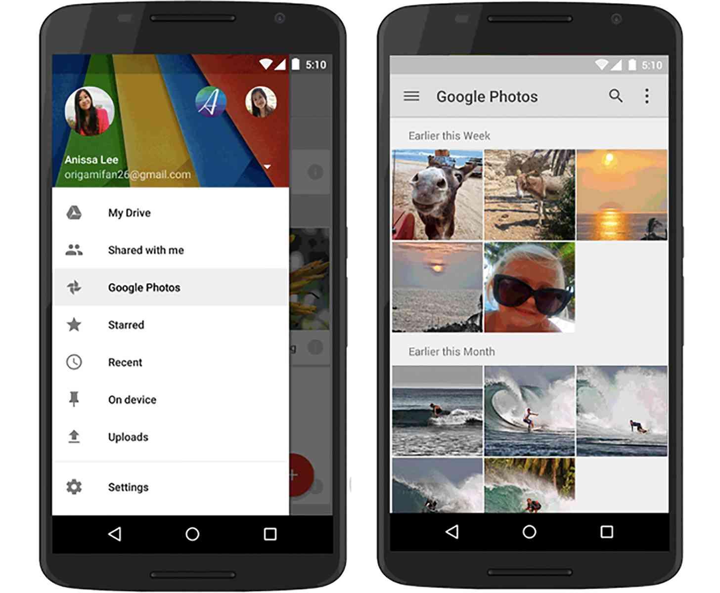Google Drive Google+ Photos