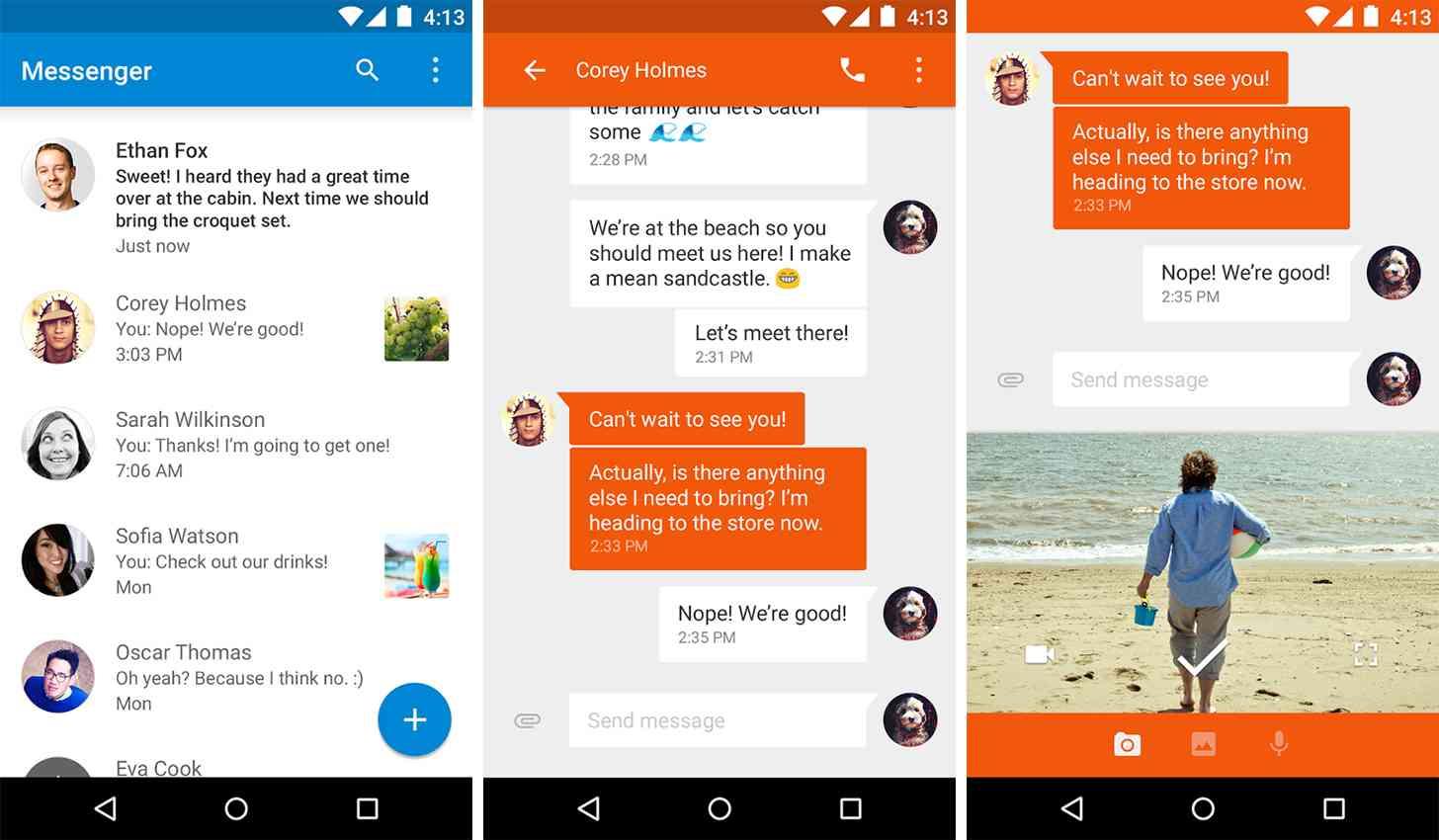 Google Messenger app screenshots