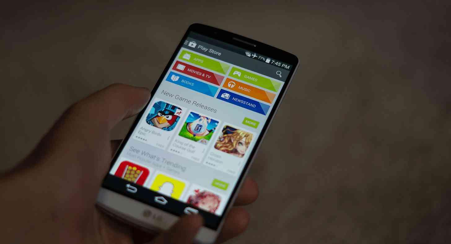 LG G3 Google Play Store