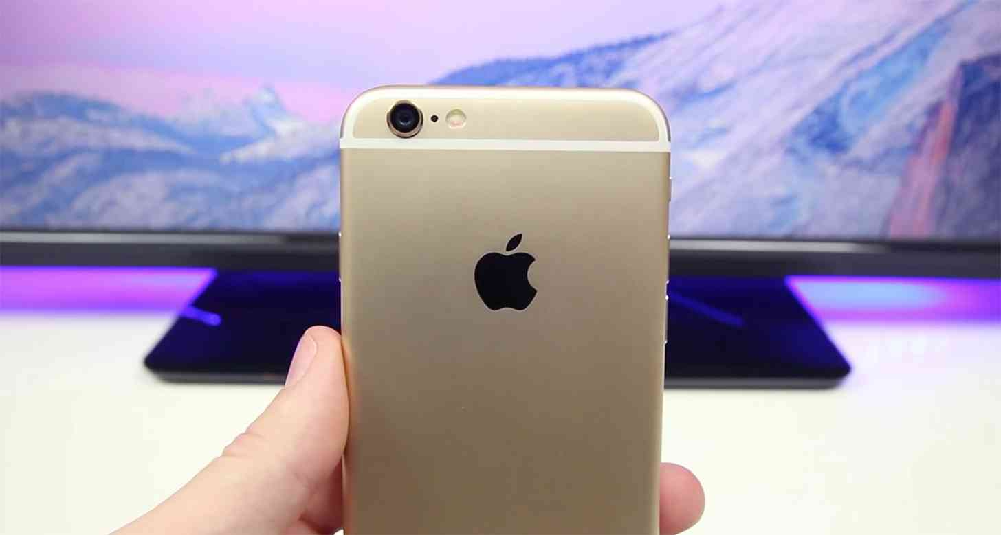 iPhone 6 gold rear large