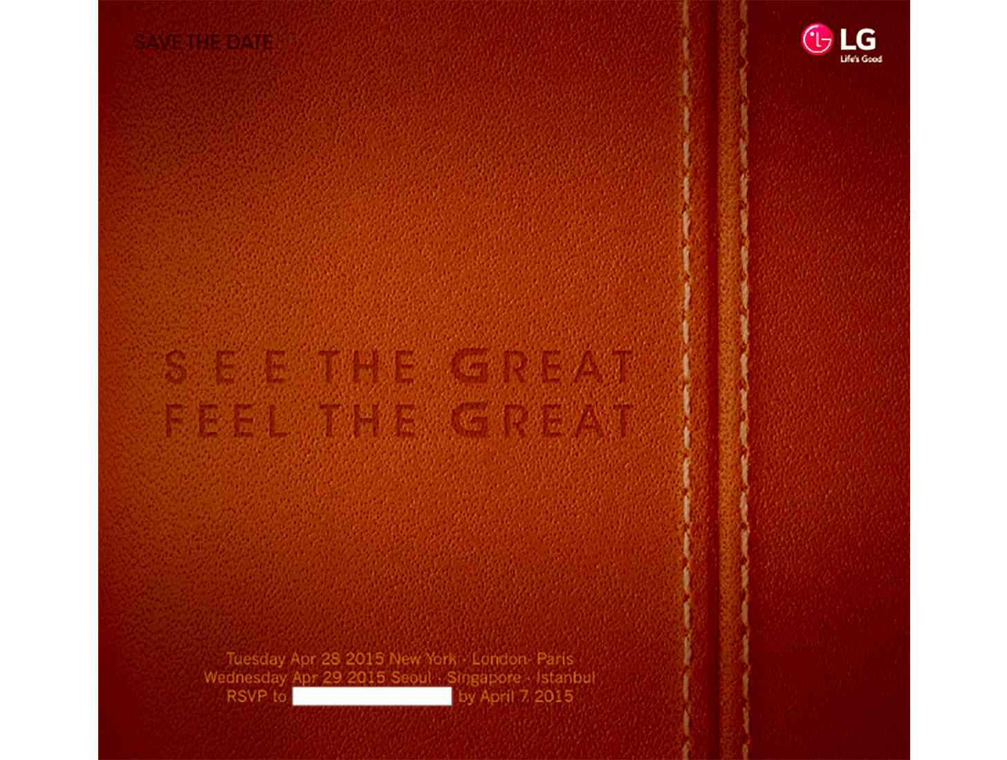 LG G4 April 28 event invitation