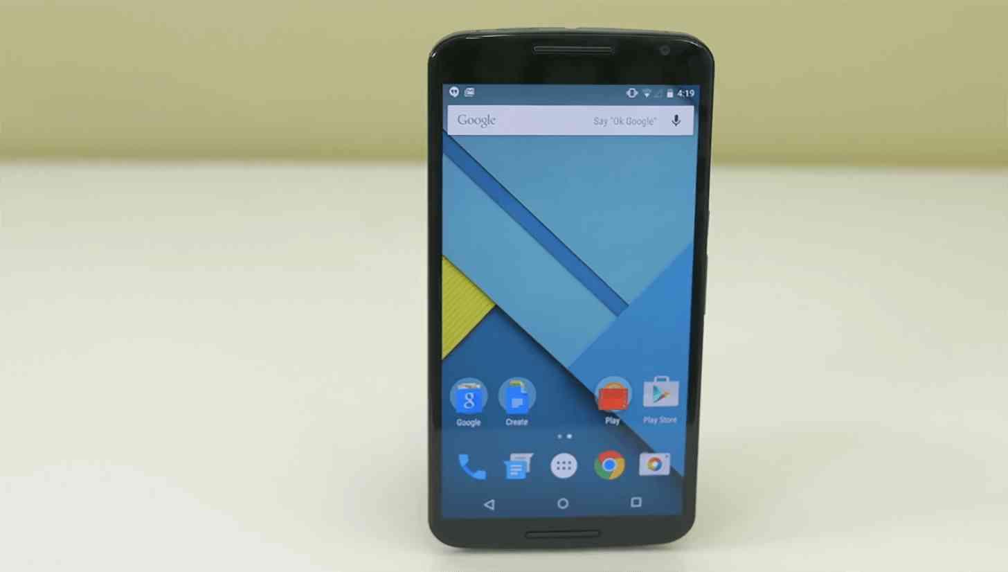 Nexus 6 front on