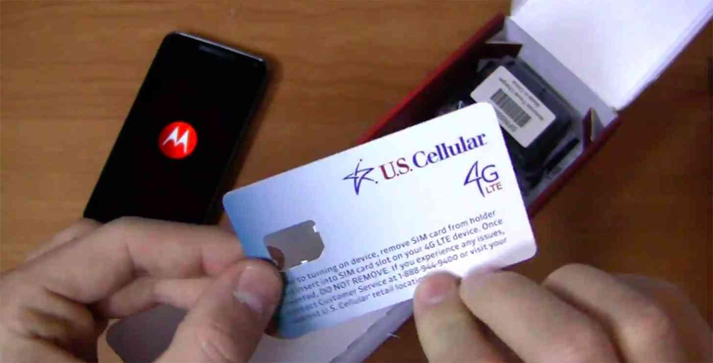 U.S. Cellular 4G LTE SIM card