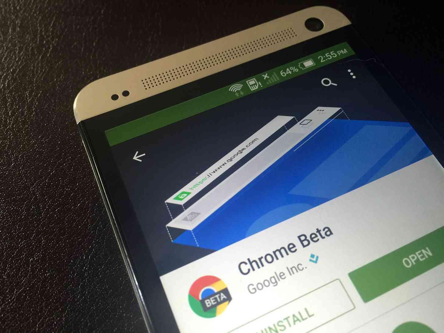 Chrome Beta Google Play store