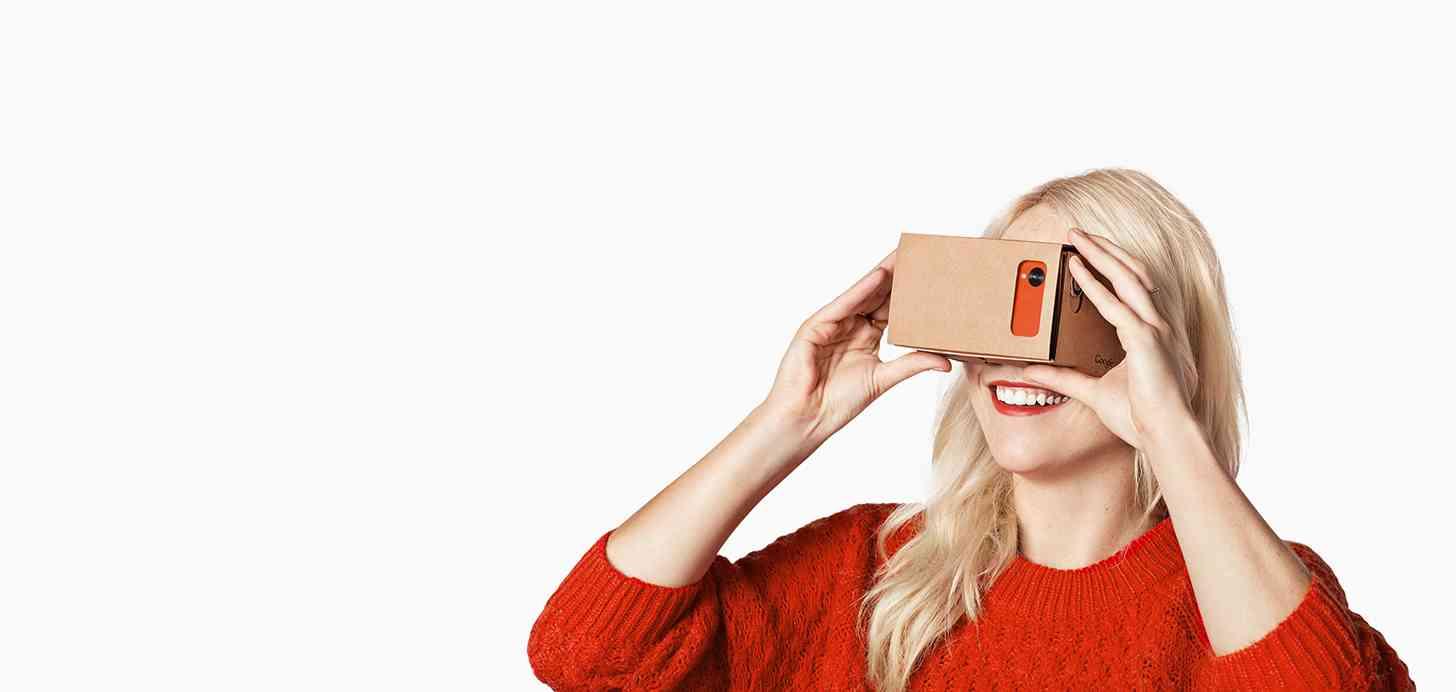 Google Cardboard woman