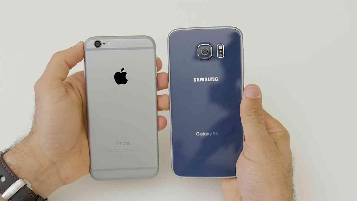 Apple iPhone 6 vs Samsung Galaxy S6 large