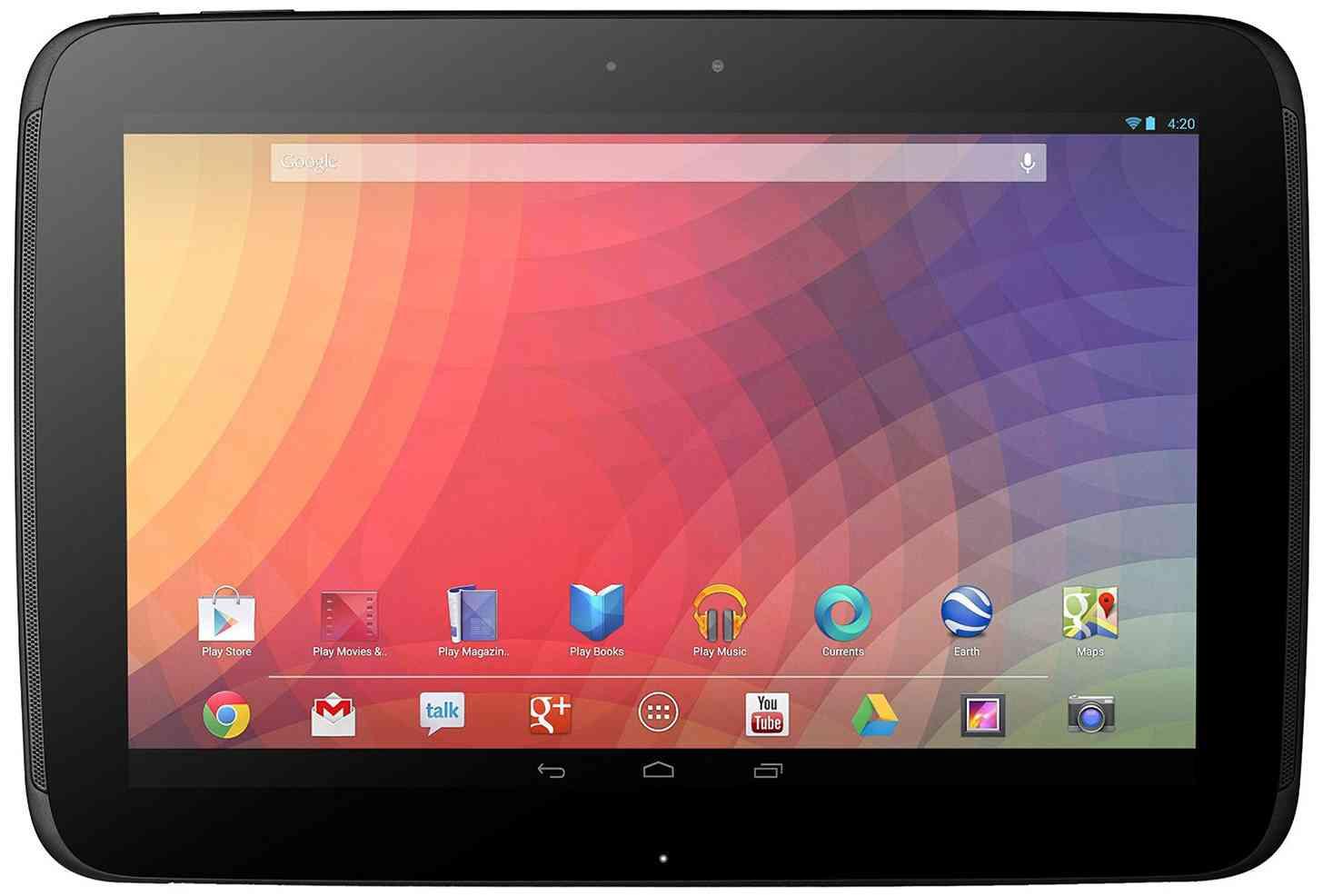 Nexus 10 front large
