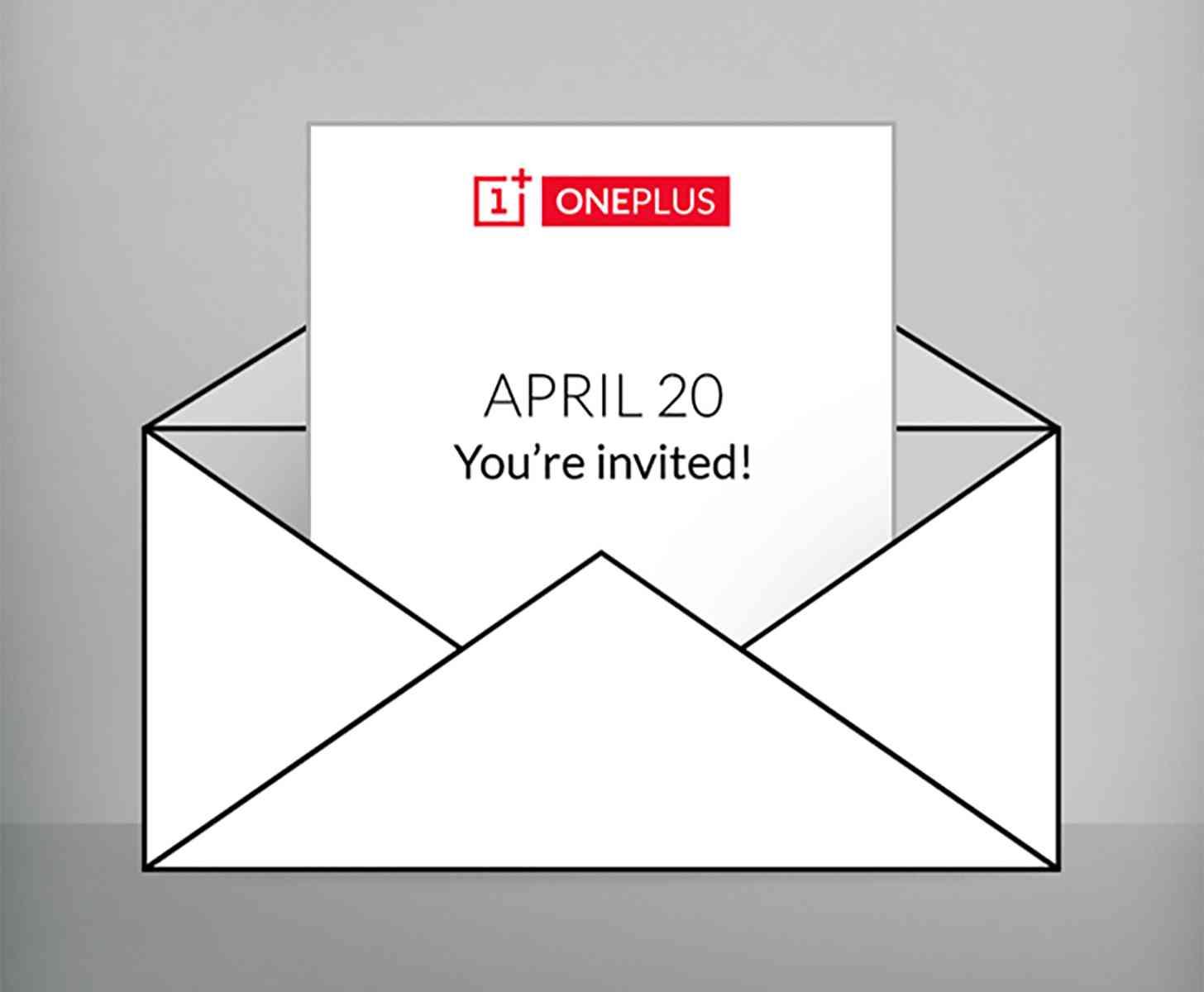 OnePlus April 20 announcement invitation