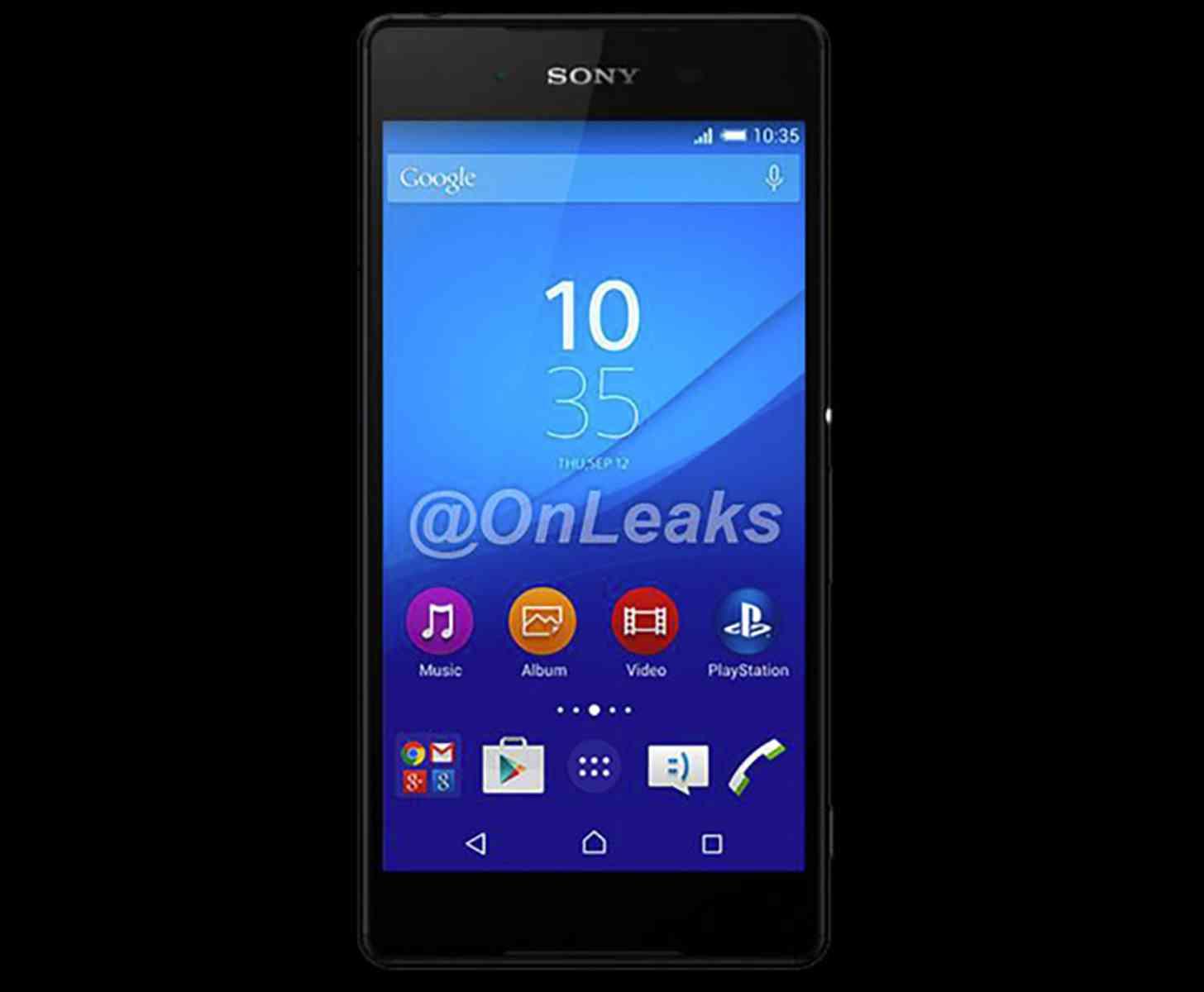Sony Xperia Z4 front leak