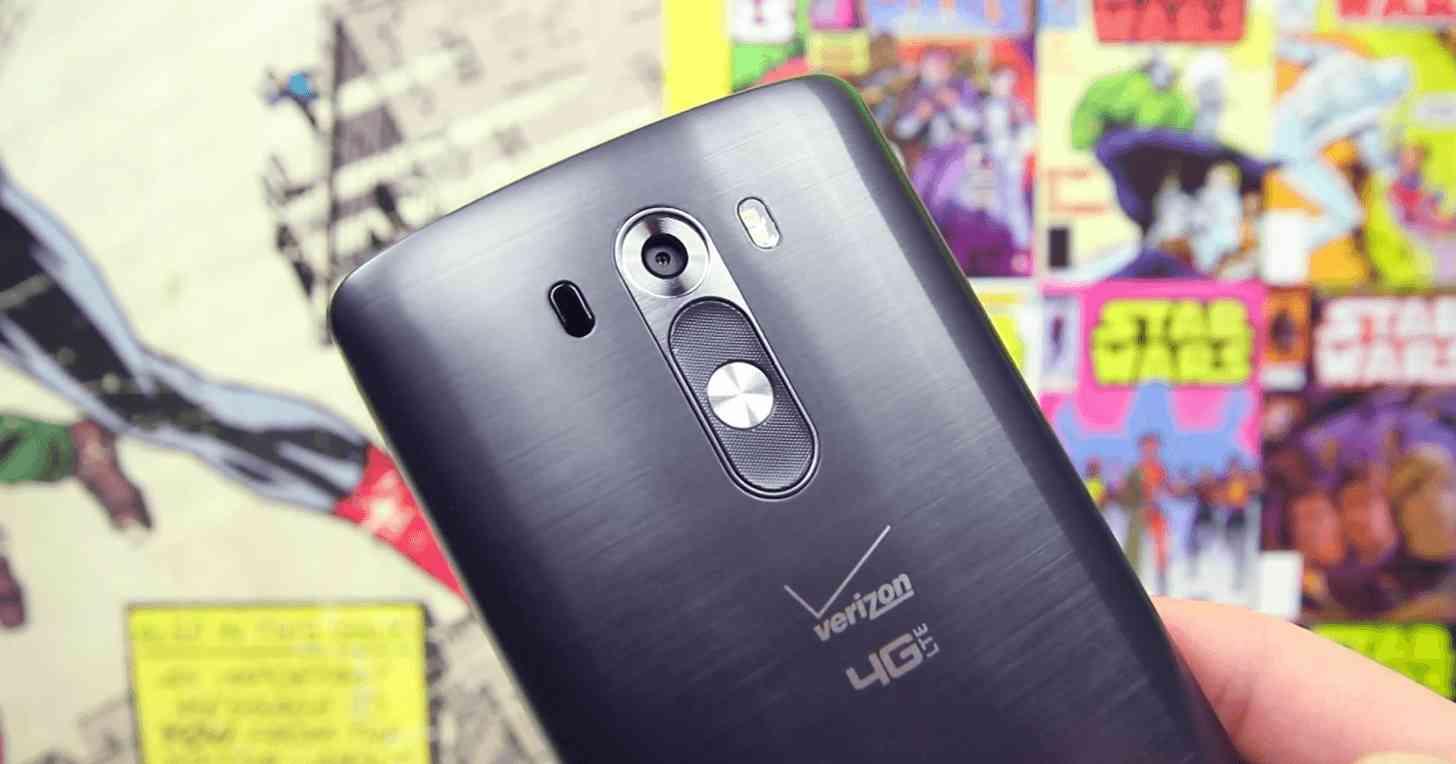 Verizon LG G3 rear