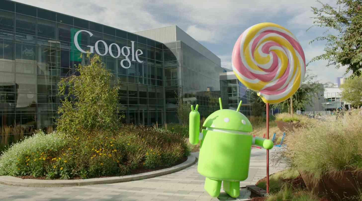 Android Lollipop statue Google campus
