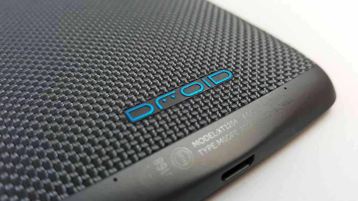 Motorola DROID Turbo blue accent