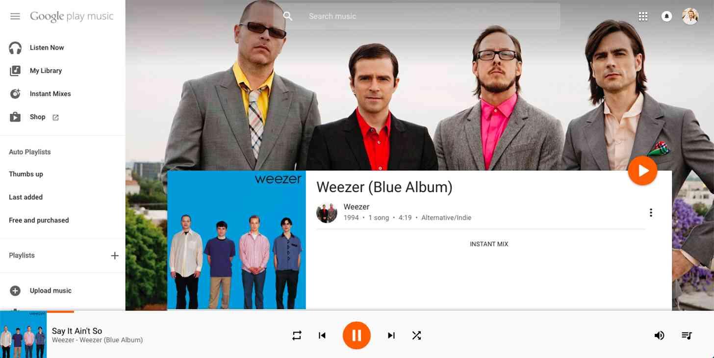 Google Play Music web redesign 1