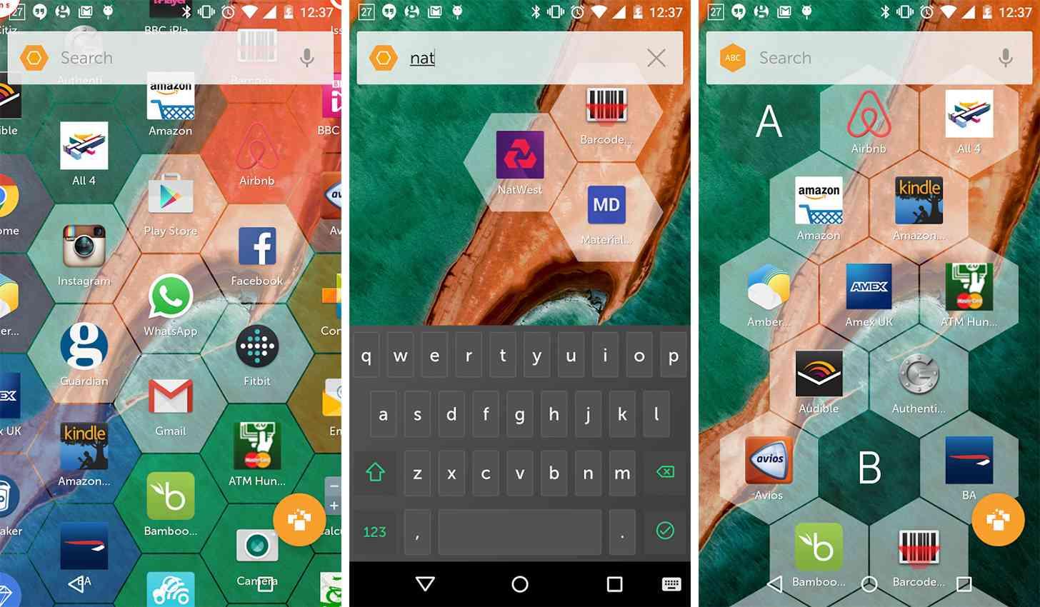 Hexy Launcher Android app screenshots