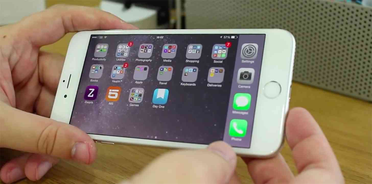 iPhone 6 Plus landscape home screen