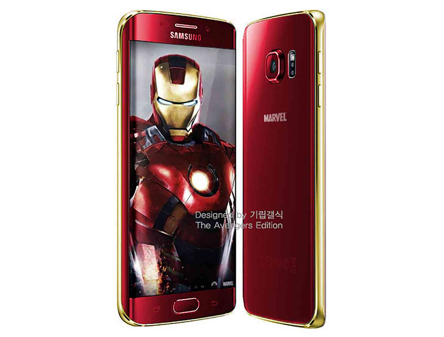 Iron Man Samsung Galaxy S6 edge mockup