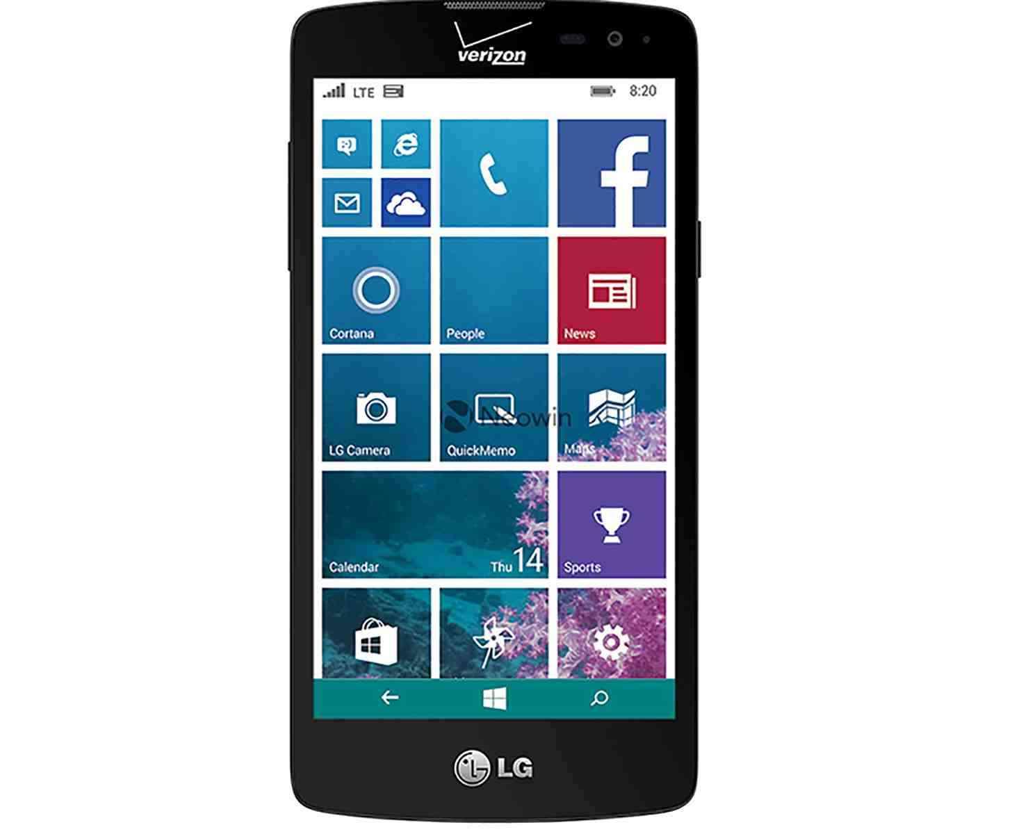 Phone Upcoming Android Phones Verizon lg lancet leak reveals specs for verizons upcoming windows phone verizon leak