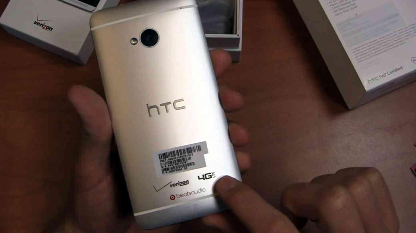 Verizon HTC One M7 rear large