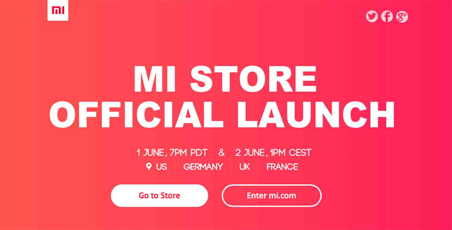 Xiaomi Mi Store official launch