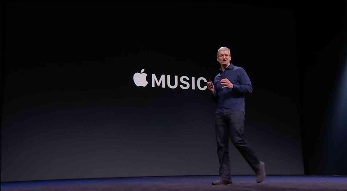 Apple Music Tim Cook announce