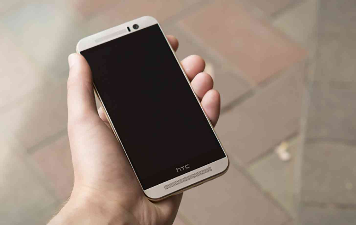 HTC One M9 in hand large