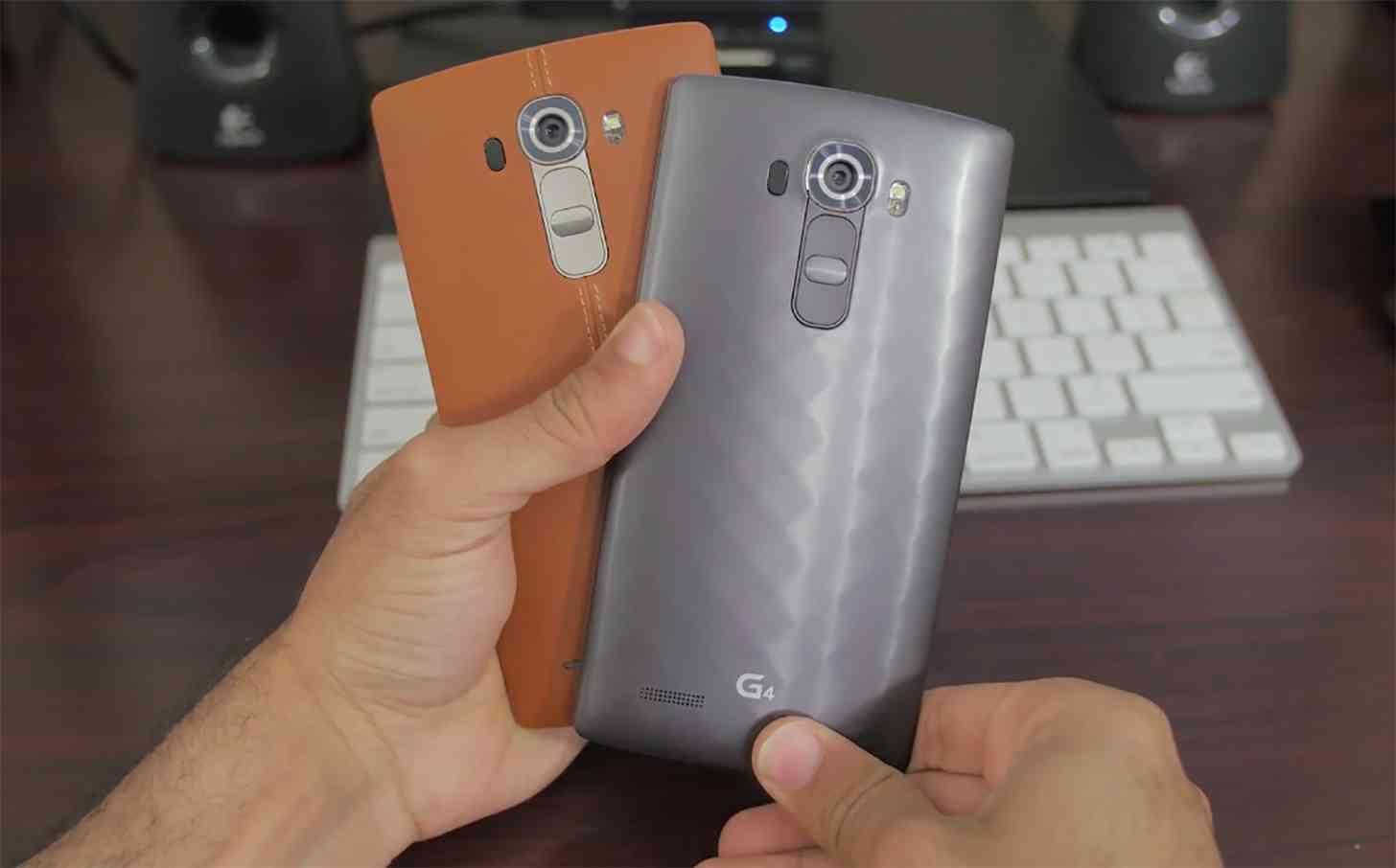 LG G4 leather plastic rear