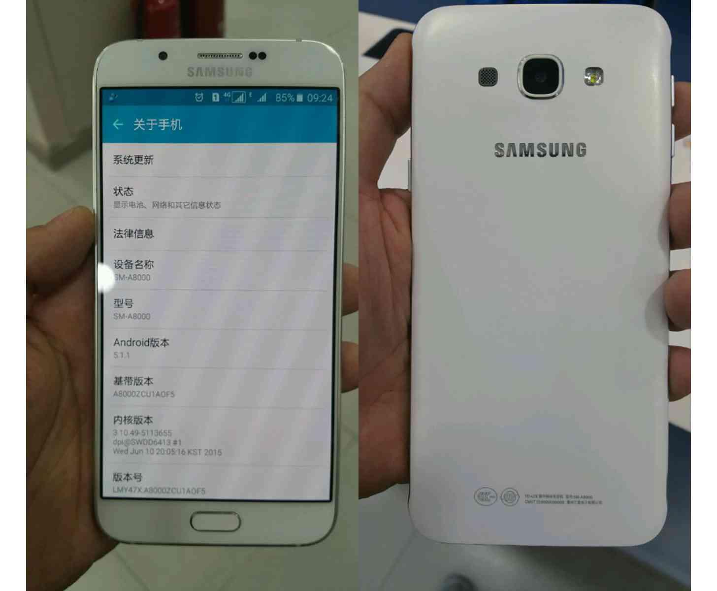 Samsung Galaxy A8 leak large