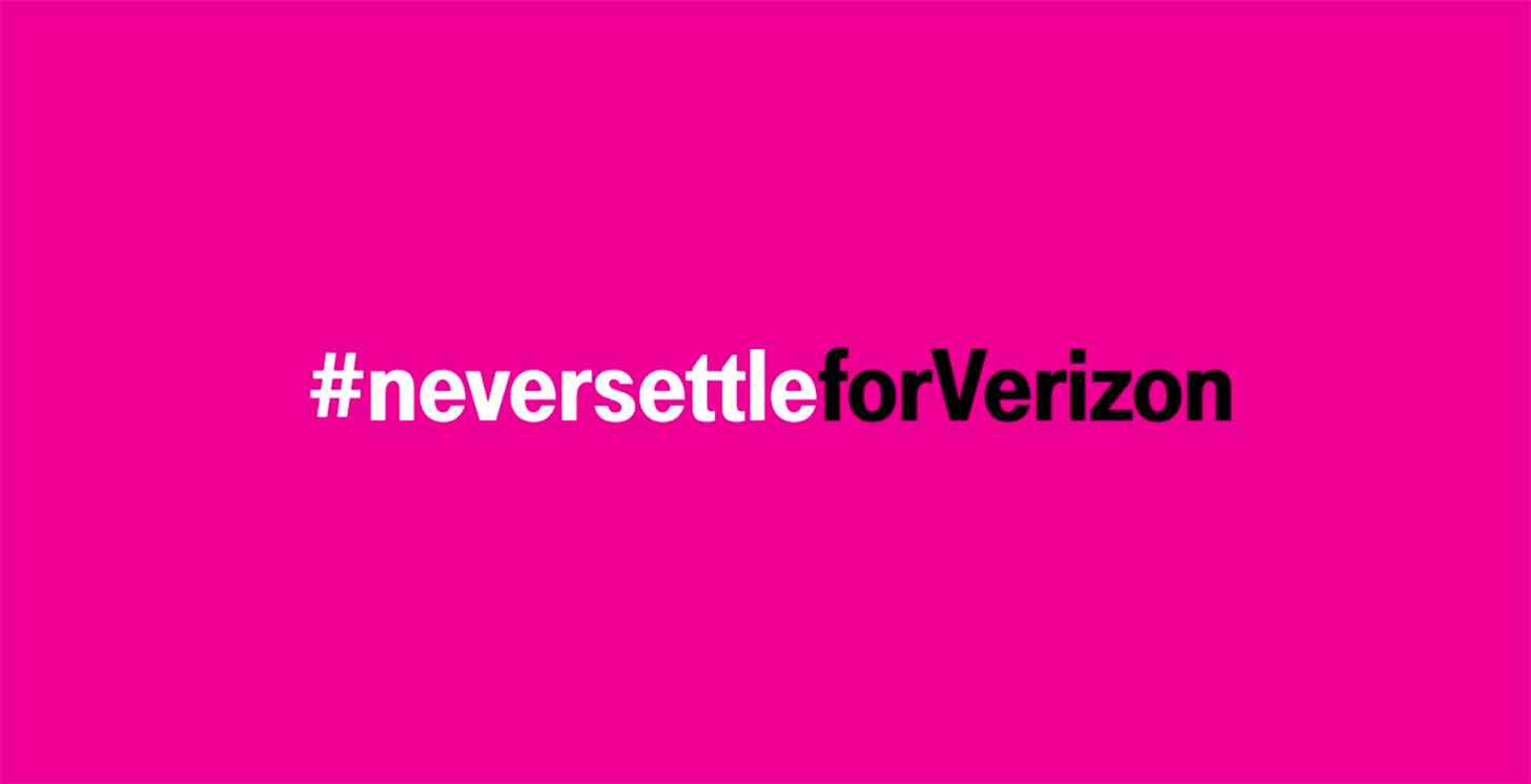 T-Mobile Never Settle for Verizon promo