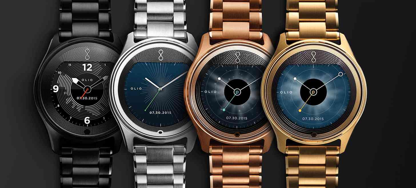 Olio Model One smartwatch steel, black, gold