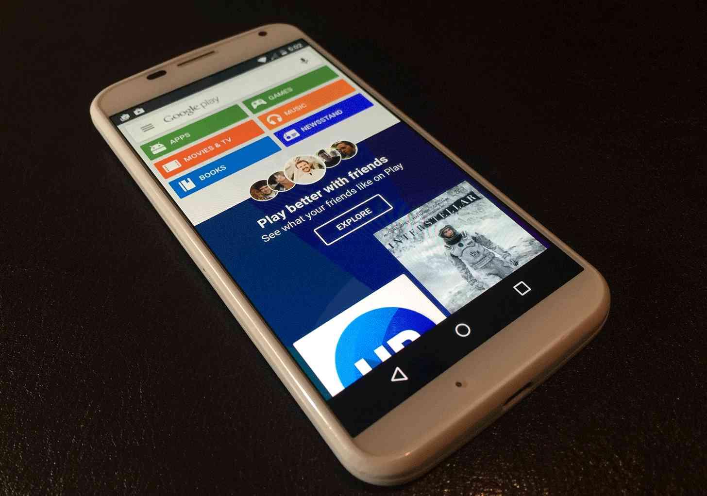 Google Play Store Moto X