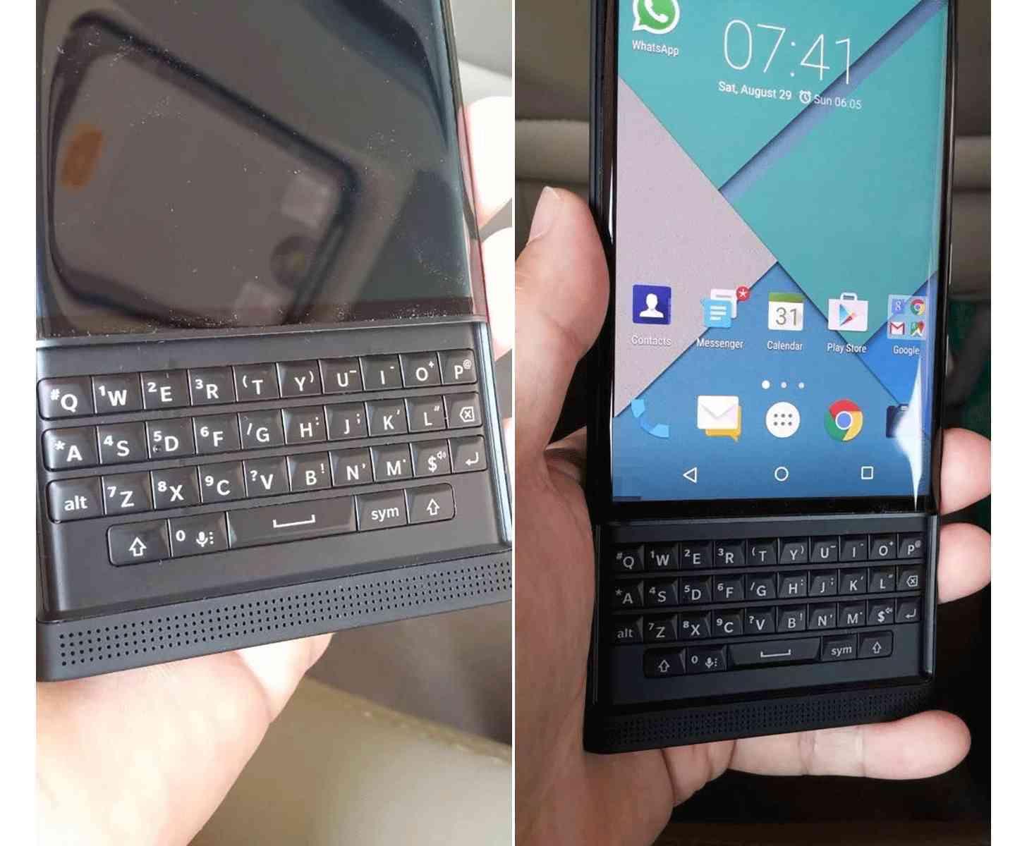 BlackBerry Priv hands on leak