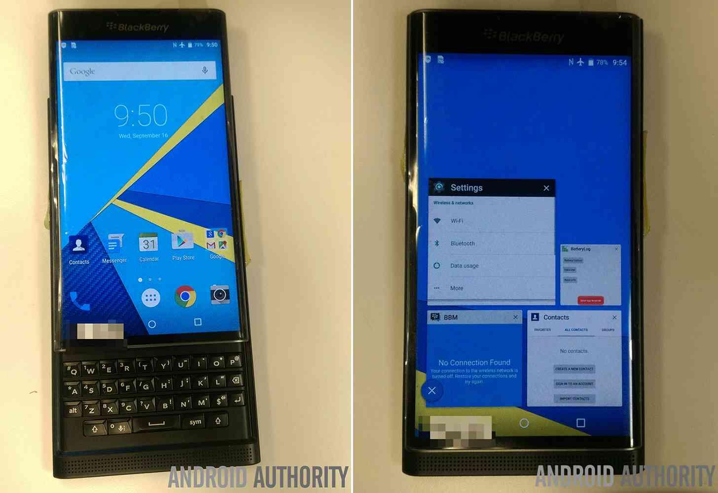 BlackBerry Venice Android leak keyboard