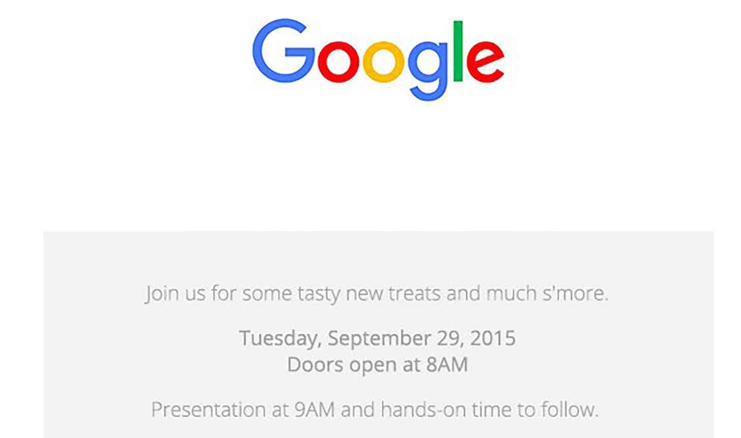 Google September 29 Nexus invite