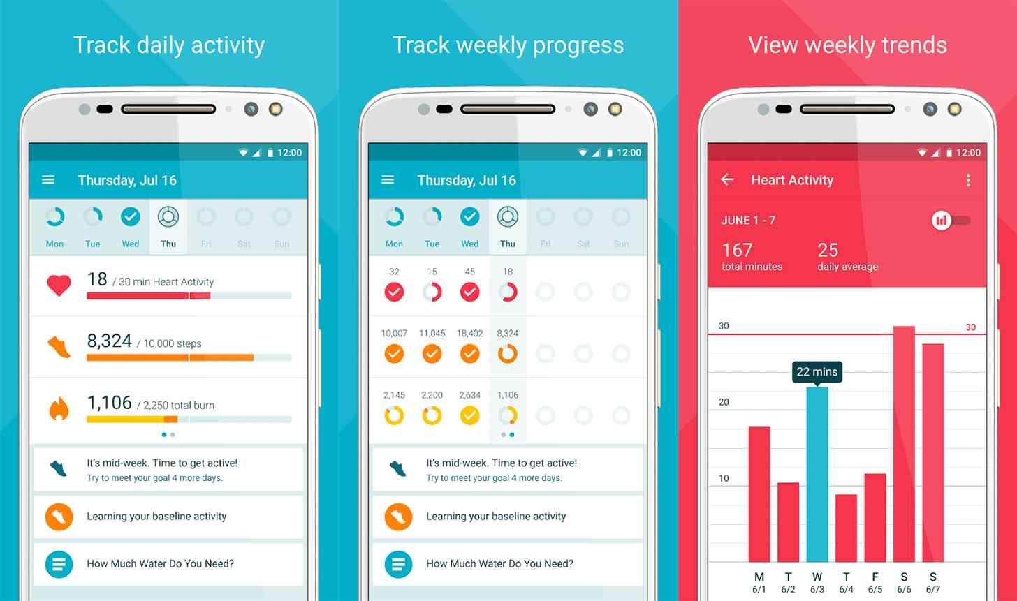 Moto Body Android app screenshots