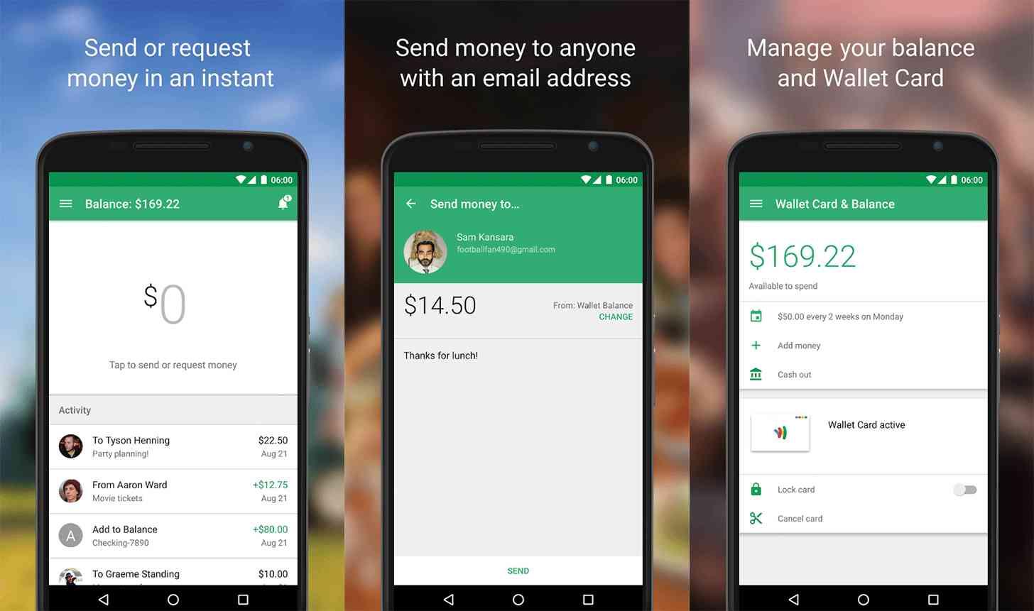 New Google Wallet app screenshots